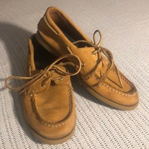 Sperry top sider suede boys boat shoes